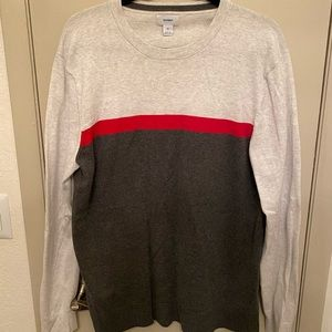 Old Navy Grey and Red Long Sleeve T Shirt Size XL